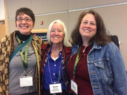 Ed. Ricia Chansky, Sharron Proulx-Turner, and Ed. Emily Hipchen at IABA in Banff, Alberta, CA in 2014.