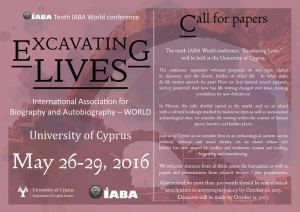 IABA 2016 Excavating Lives CFP Flyer
