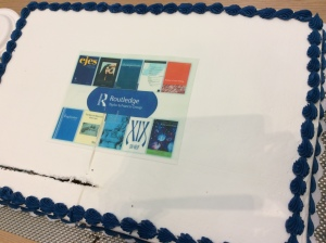 Cake, with journal covers.